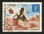 Sellos del Mundo : Africa : Chad : trabajando el cuero