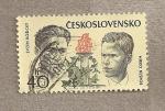 Stamps Czechoslovakia -  25 Aniv. de la Revolución comunista y la milicia