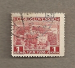 Stamps Czechoslovakia -  Castillo de Hluboka