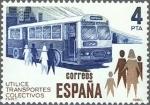 Sellos de Europa - España -  ESPAÑA 1980 2561 Sello Nuevo Utilice Transporte Colectivo. Autobus c/señal charnela Yvert2207 Scott2