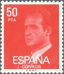 Stamps Spain -  ESPAÑA 1981 2601 Sello ** Básica Rey D. Juan Carlos I 50pts Yvert2258 Michel2513