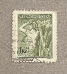 Stamps Czechoslovakia -  Mujer en la agricultura
