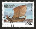Sellos del Mundo : Africa : Togo : barco fenicio de vela antiguo