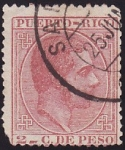 Stamps America - Puerto Rico -  Alfonso XII