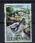 Stamps Spain -  salmón