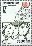 Sellos de Europa - España -  ESPAÑA 1985 2787 Sello Nuevo Año Internacional de la Juventud