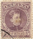 Stamps of the world : Spain :  Alfonso XIII. Tipo Cadete