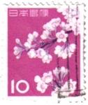Stamps Japan -  La flor del cerezo