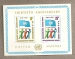 Stamps ONU -  30 Aniv creación ONU