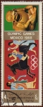 Stamps Yemen -  OLYMPIC GAMES. MEXICO 1968