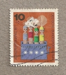 Stamps Germany -  Muñecos, beneficiencia
