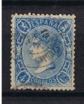 Stamps Europe - Spain -  Edifil  75  Reinado de Isabel II