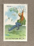 Stamps North Korea -  Paracaidista