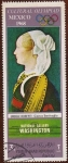 Stamps Asia - Yemen -  CULTURAL - OLYMPIAD. MEXICO 1968