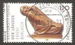Stamps Germany -  anciana riendo, escultura de ernst barlach