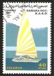 Sellos de Africa - Marruecos -  barco de vela