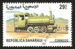Stamps : Africa : Morocco :  locomotora