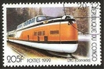 Stamps : Africa : Republic_of_the_Congo :  tren