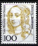 Sellos del Mundo : Europa : Alemania : Mujeres famosas. Luise Henriette von Oranien.