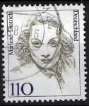 Sellos del Mundo : Europa : Alemania : Mujeres famosas. Marlene Dietrich.