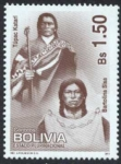 Stamps of the world : Bolivia :  Tupac Katari y Bartolina Sisa