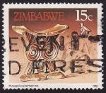 Sellos del Mundo : Africa : Zimbabwe : Head Rest / Descansadero de cabeza