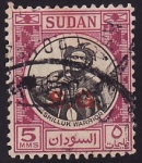Sellos del Mundo : Africa : Sudán : Shilluk Warrior / Guerrero