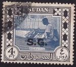 Sellos del Mundo : Africa : Sudán : Weaving / Tejiendo