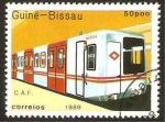 Sellos del Mundo : Africa : Guinea_Bissau : tren, c.a.f.