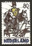 Stamps Netherlands -  jinete del cuerpo de artilleria