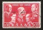 Sellos de Europa - Grecia -  personajes militares
