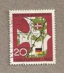 Stamps Germany -  Enlace ferroviario Dinamarca-Alemania