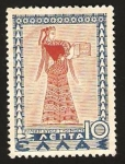 Stamps Greece -  dama portando un joyero