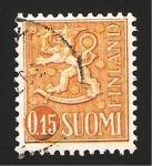 Stamps Finland -  leon rampante