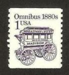 Sellos del Mundo : America : Estados_Unidos : carruaje para diligencia, mod. omnibus 1880