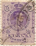 Stamps Europe - Spain -  Alfonso XIII Medallon