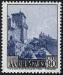 Sellos de Europa - San Marino -  SAN MARINO:  Centro histórico de San Marino y Monte Titano