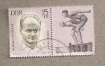 Stamps Germany -  Campeón natación