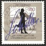Sellos de Europa - Alemania -  centº de la sociedad alemana schillergesellschaft