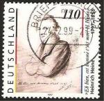 Stamps Germany -  1794 - Heinrich Heine, poeta