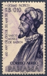 Stamps of the world : Panama :  450 anv del descubrimiento del Mar del Sur Vasco Nuñez de Balboa