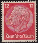 Sellos de Europa - Alemania -  DEUTSCHES REICH 1933 Scott422 Sello Nuevo 85 Cumpleaños de Von Hindenburg Alemania Michel519