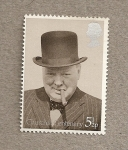 Sellos de Europa - Reino Unido -  Centenario nacimiento Churchill