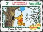 Sellos del Mundo : America : Anguila : ANGUILLA 1982 Scott 513 Sello ** Walt Disney Navidad Winnie de Pooh 3c
