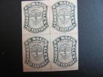 Sellos del Mundo : America : Colombia : Bloque de cuatro, 1c. 1870