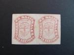 Sellos del Mundo : America : Colombia : Bloque de dos, 1c. 1872