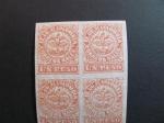 Stamps America - Colombia -  Bloque de cuatro, 1 peso. 1876