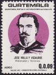 Stamps America - Guatemala -  José Milla y Vidaurre