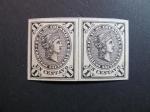 Sellos del Mundo : America : Colombia : Bloque de dos, 1 c. 1881