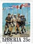 Stamps Liberia -  Norman Rockwell, ilustrador, fotógrafo y pintor.
